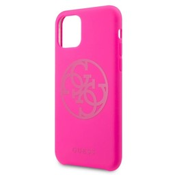 Guess For I-Phone 11 Pro 5.8''  Hard Case Fuchsia GUHCN58LS4GFU
