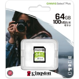 SDS2 64GB Kingston Canvas Select Plus for HD and 4K Video Cameras