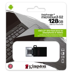 DataTraveler microDuo 3 G2 USB 3 DTDUO3G2 - micro USB 128GB