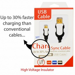 1.5 M Charge Sync 3.0 USB Cable 30% Faster
