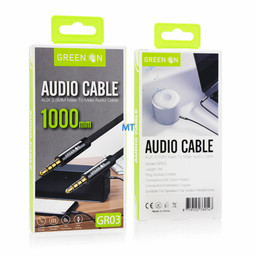 GREEN ON  GREEN ON 3.5mm Aux Cable GR03 1M