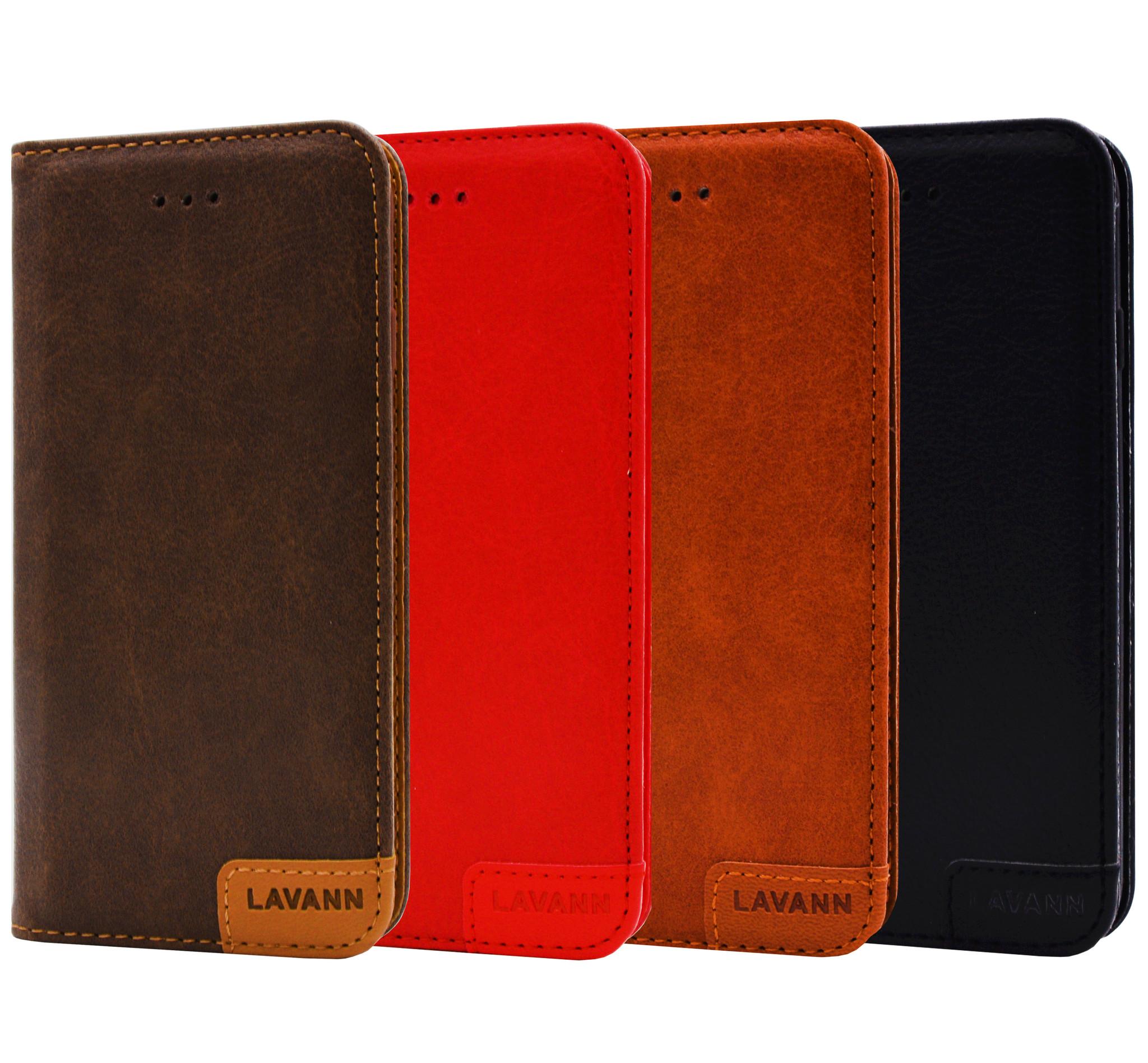 Lavann Lavann Leather Bookcase Galaxy A42