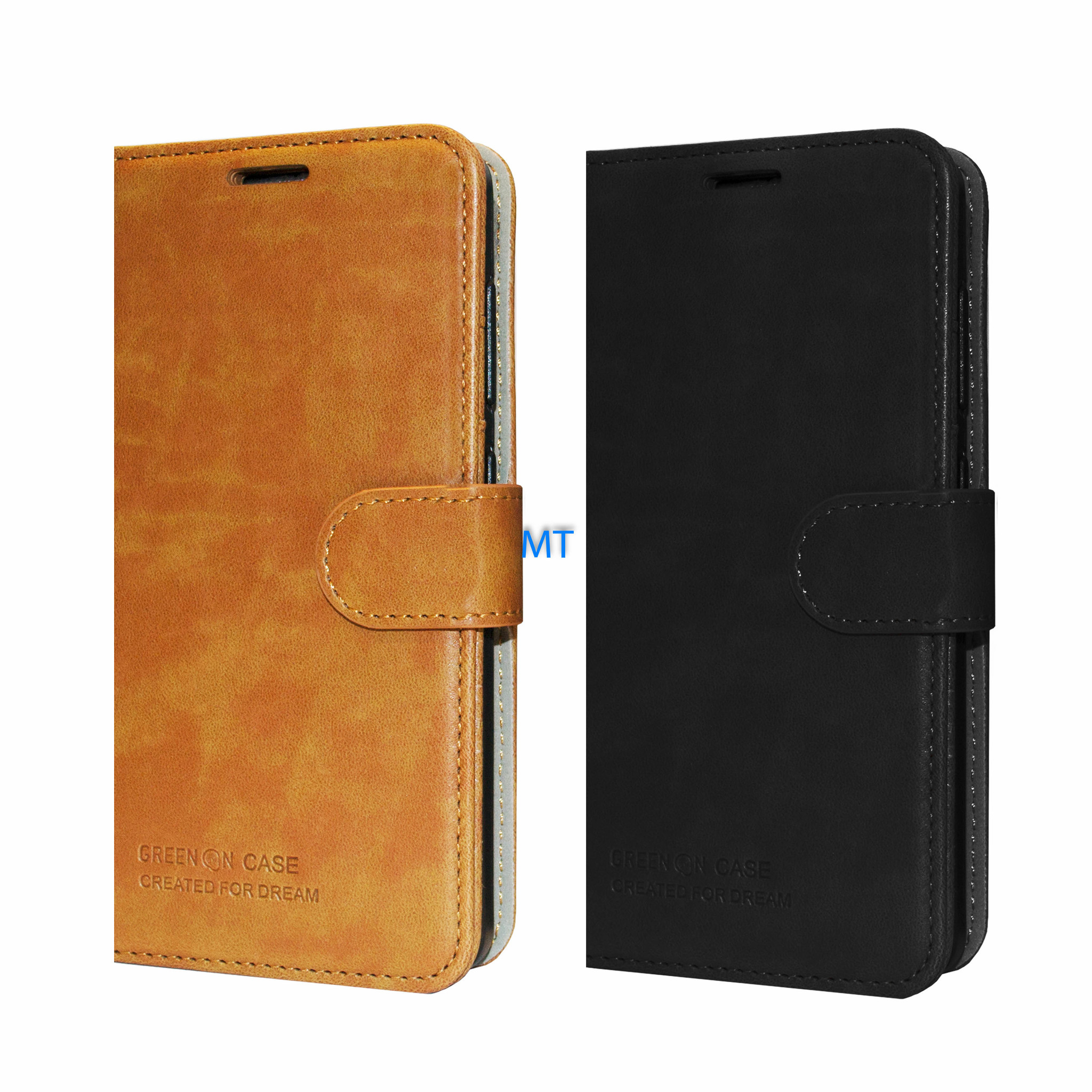 GREEN ON  Protection Leather Book Case For I-Phone X / Xs