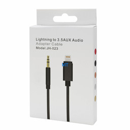 Aux Audio Cable 3.5mm Lightning