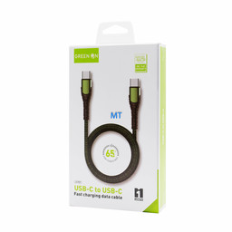 GREEN ON  GREEN ON Fast Charging Cable USB-C To USB-C  LC101 1M