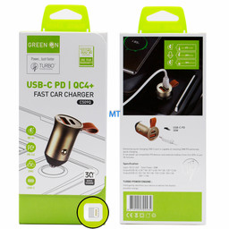 GREEN ON  GREEN ON USB-C To USB Lightning  Fast Car Charger C509Q