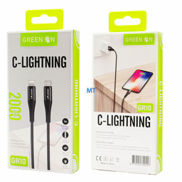 GREEN ON  GREEN ON Cable USB-C To USB Lightning GR10 2M