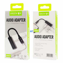 GREEN ON  GREEN ON Audio Adapter 2 In 1 Charging en Music Converter GR07