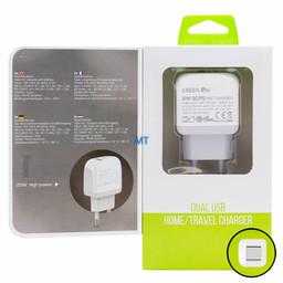 GREEN ON  GREEN ON 20W Dual PD + QC3.0 Travel Charger  A2316C-EU USB-C
