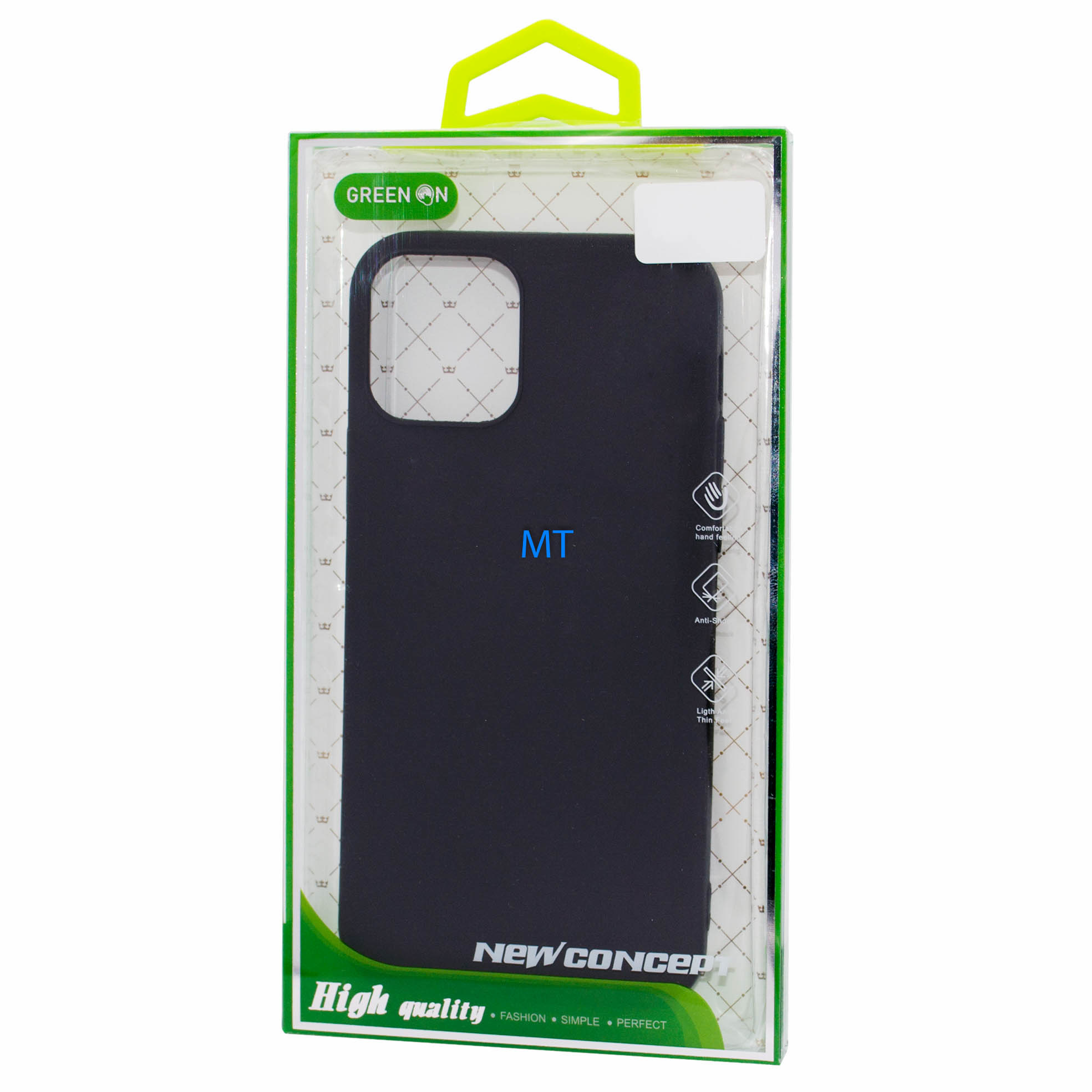 GREEN ON  TPU Case Green On  I-Phone12 Pro Max Black