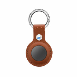 Air-Tag Leather Key Ring