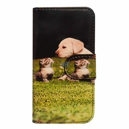 Galaxy S6 Edge G925 Kitty & Dog Book Case