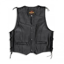 Held Patch Bikervest met Veters