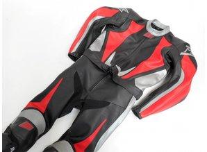 MJK Leathers Voorbeelden Leren-Motorpak-Raceoverall-Combipak