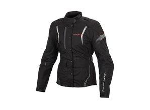 Macna Beryl Textiel Motorjas Dames in licht grijs-rose en zwart/zwart