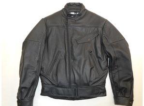 "MJK Leathers  ""Snuffelrek"" Opruiming Zwart Leren  Motorjack Heren"