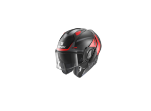 Shark Evo-GT Encke Mat zwart-rood-antraciet KRA Systeem Motorhelm