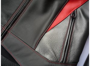 MJK Leathers Black Legend Zwart Leren Motorjack Heren