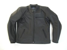 MJK Leathers Twin Tone All Black Motorjack