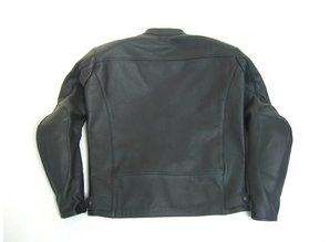 MJK Leathers Twin Tone All Black Classic Leren Motorjack