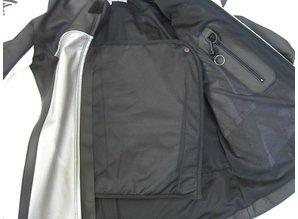 MJK Leathers Mirage Leren Motorjack zwart/metallic