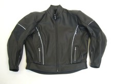 MJK Leathers Mirage All Black Motorjack