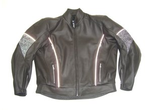 MJK Leathers Mirage All Black Leren Motorjack