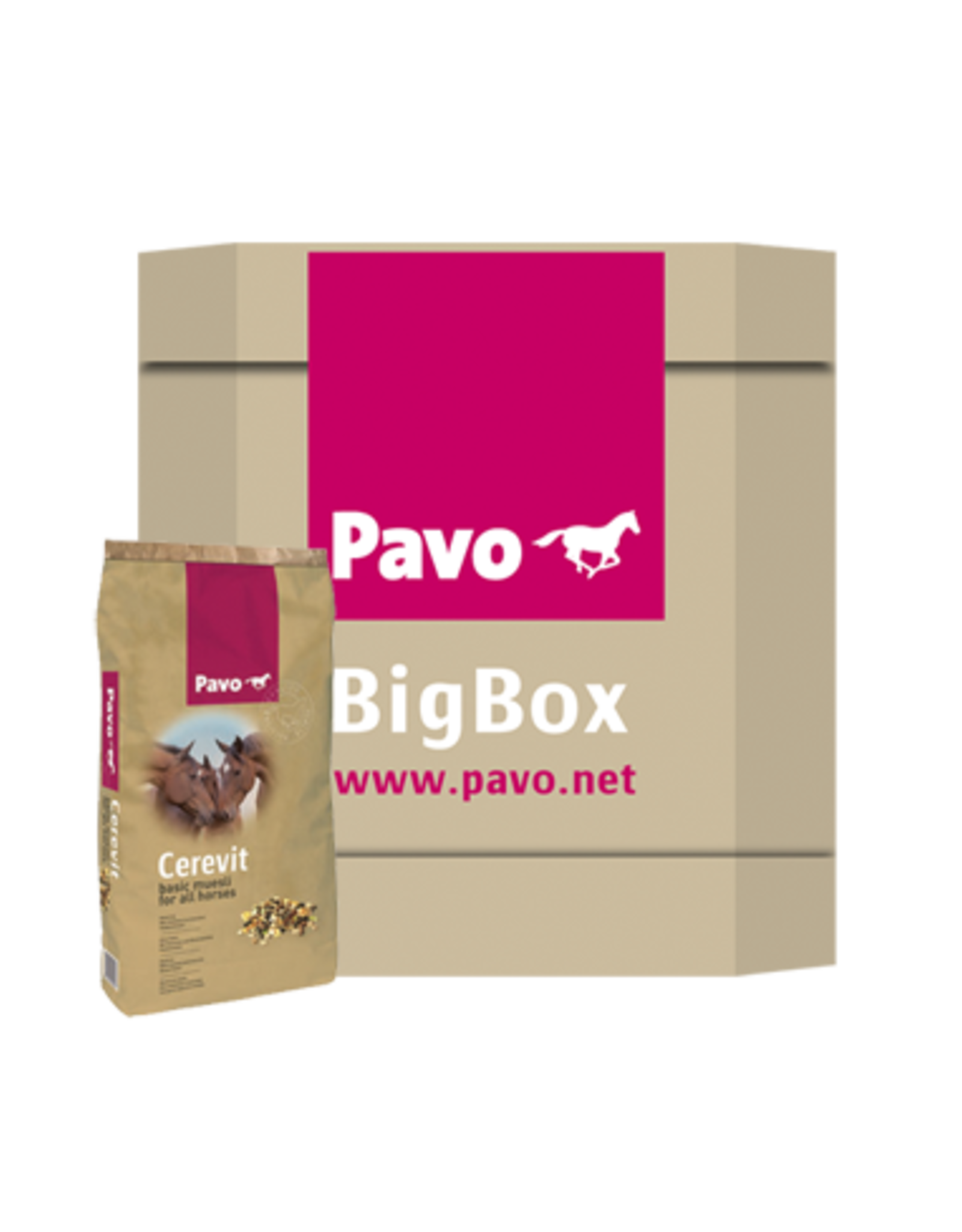Cavalor Pavo Cerevit Big Box 600 kg