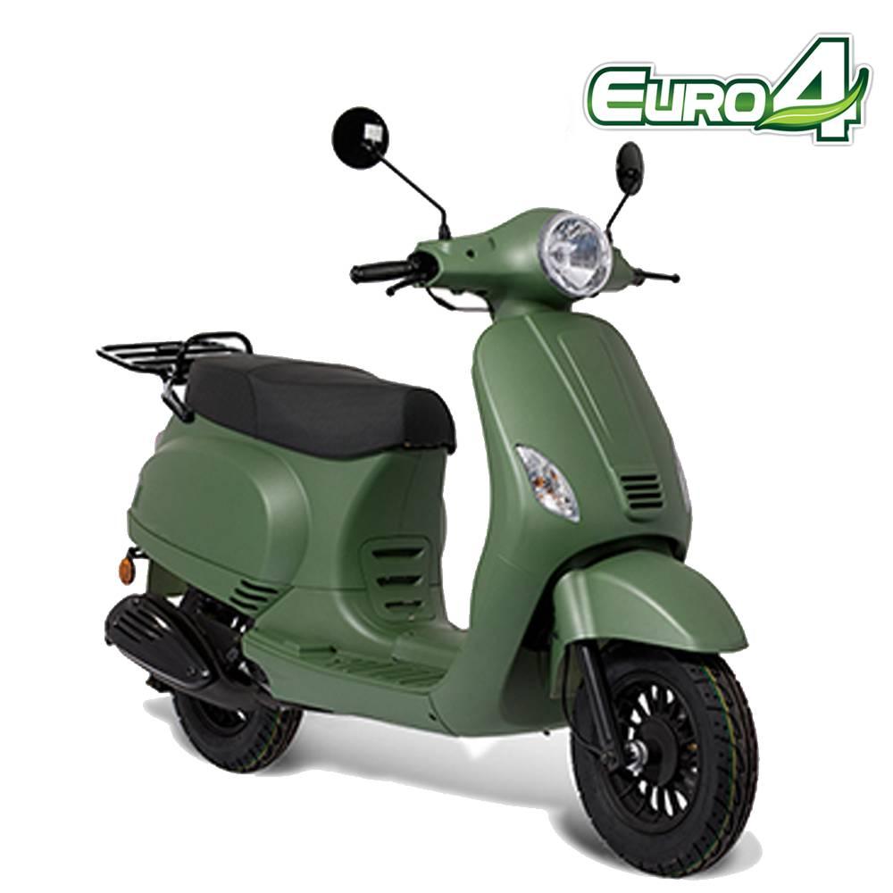 Leopard Forza scooter mat groen