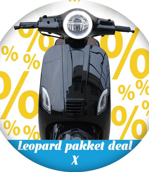 Leopard Leopard Scooter Pakket deal X | Zwart
