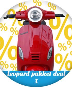 Leopard Pakket deal X | Rood