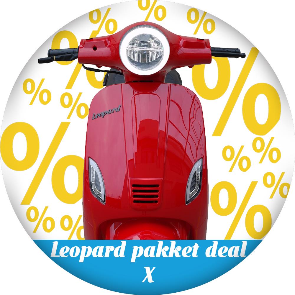 Leopard Leopard Scooter Pakket deal X | Rood