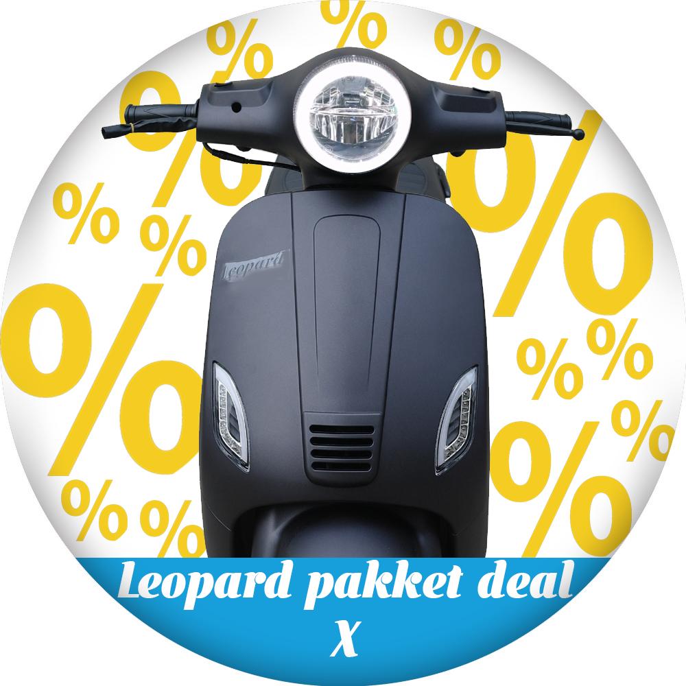Leopard Leopard Scooter Pakket deal X | Matzwart