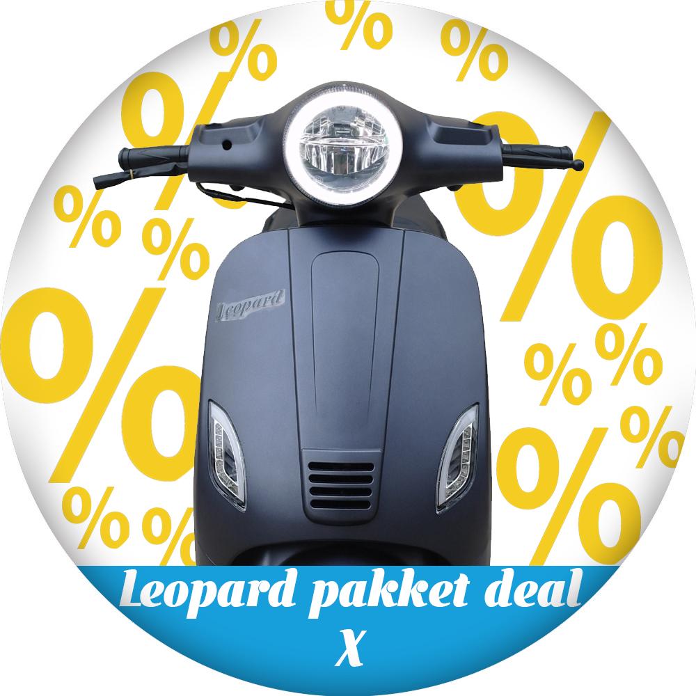 Leopard Leopard Scooter Pakket deal X | Antraciet grijs