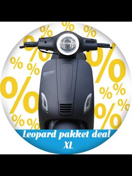 Leopard Leopard   pakket deal XL - matzwart