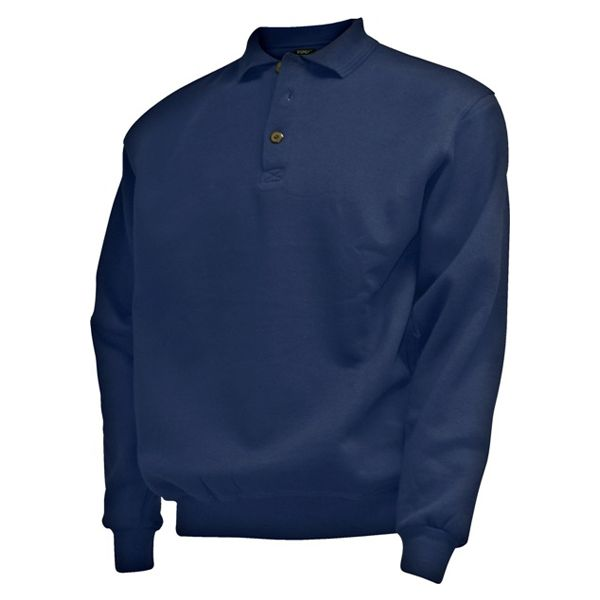 CAMUS 381106 Grote maten Navy Blue Polo Sweater