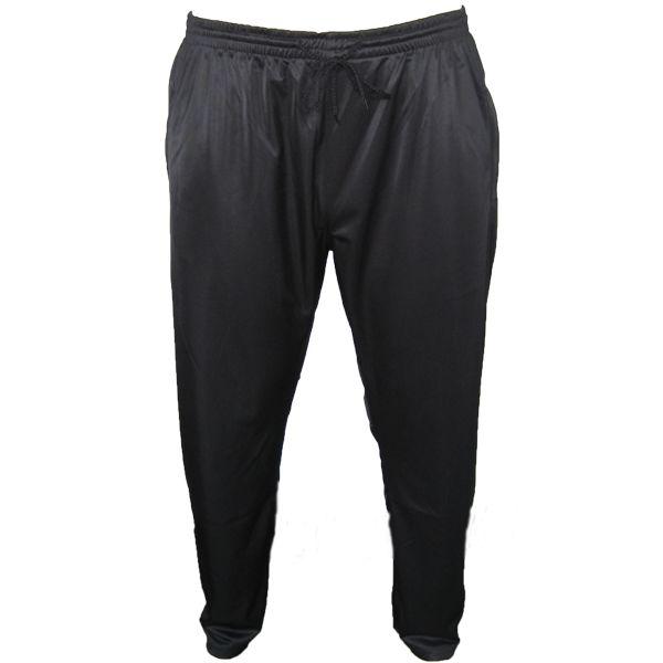 Kingsize Brand J051 Grote maten Zwarte Tricot Joggingbroek