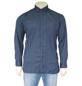 Kingsize Brand SH244 Grote maten Blauw Overhemd (lange mouw)
