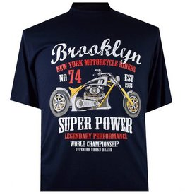 "2260 Grote Maten Navy Blue T-shirt ""Brooklyn"""