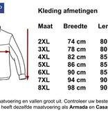Kingsize Brand 1550 Grote maten Zwarte Fleece Jas
