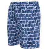 Kingsize Brand SW070 BEACH HUT Print - Grote maten Zwemshort