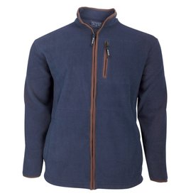 Kingsize Brand 1700 Grote maten Navy Fleece Jas