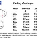 "Kingsize Brand TS304 Navy - Grote maten T-shirt ""HOT RED"""