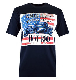 "Kingsize Brand TS304 Navy - Grote maten T-shirt ""HOT RED"""