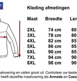 Kingsize Brand JT103 Grote maten Blauw Pilot Jacket