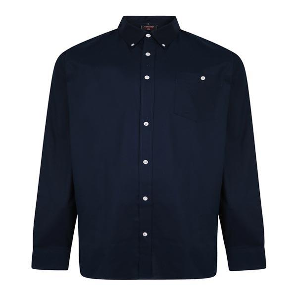 Kingsize Brand SH334 Grote maten Navy Oxford Overhemd