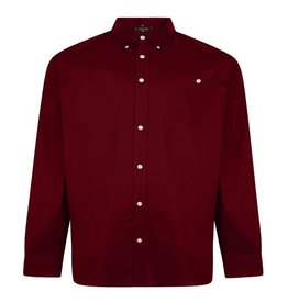 Kingsize Brand SH335 Grote maten Wijnrood Oxford Overhemd