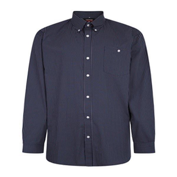 Kingsize Brand SH340 Grote maten Blauw Geometric Overhemd