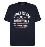 "Kingsize Brand TS322 Grote maten Blauw T-shirt ""Coney Island"""