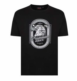 "Kingsize Brand T337 Grote maten Zwart T-shirt ""Premium Beer"""